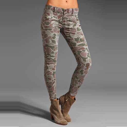 Best Printed Denim - Current/Elliott Camouflage Skinny Jeans