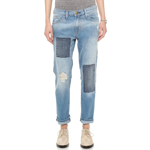 Best What's New in Denim... - Current/Elliott The Fling Patchwork Boyfriend Jean
