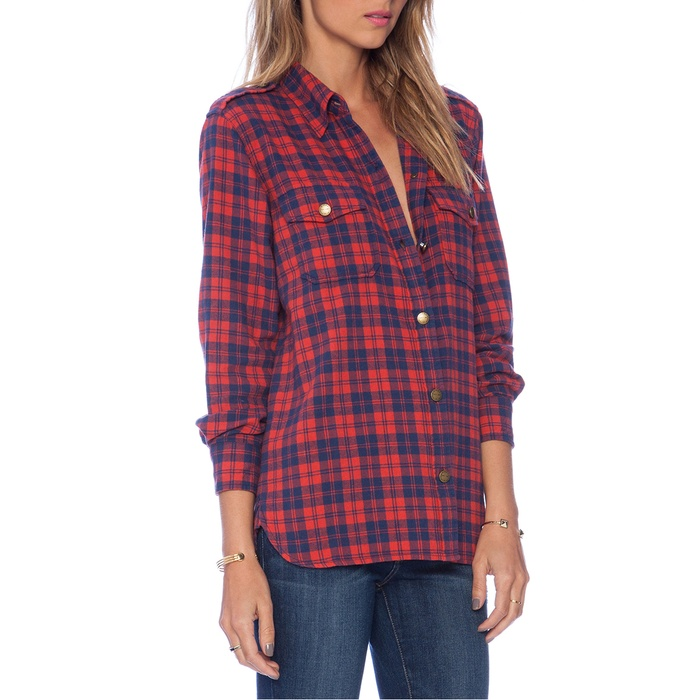 Best Plaid Button Downs - Current/Elliott The Perfect Plaid Cotton Shirt