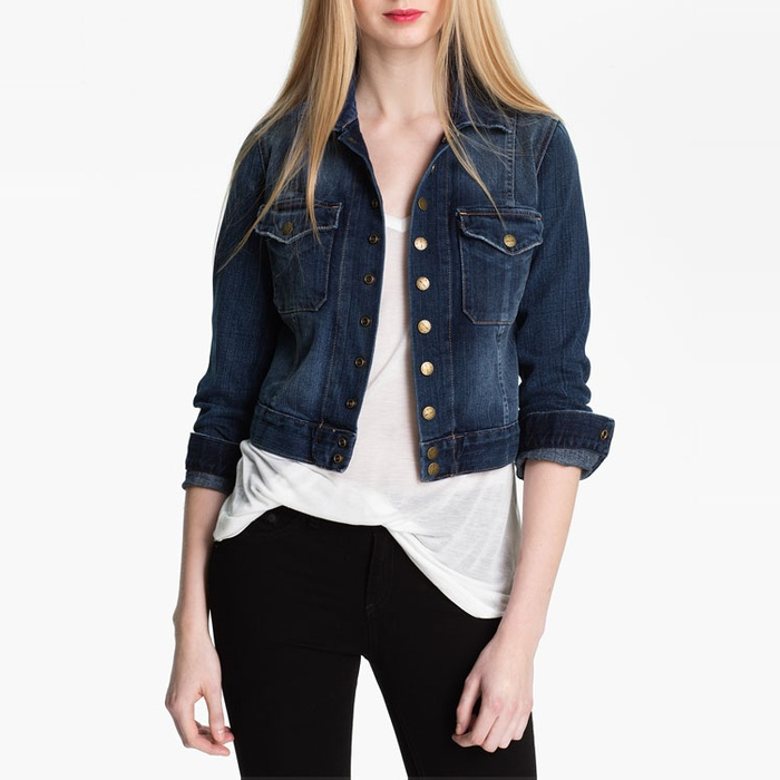 Best Denim Jackets - Current/Elliott The Snap Jacket