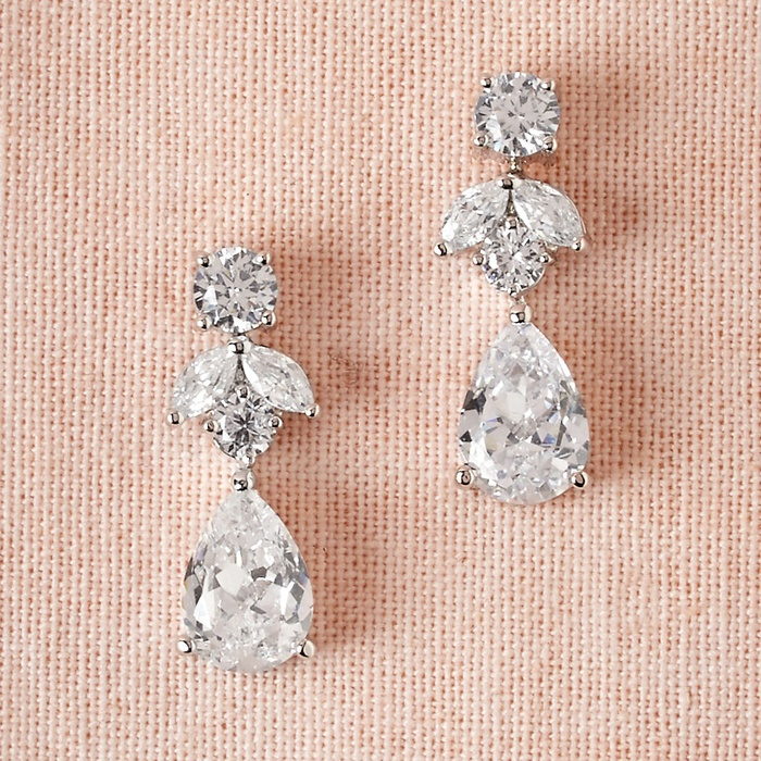 Best Bridal Earrings - CZ by Kenneth Jay Lane Petite Crystal Drop Earrings