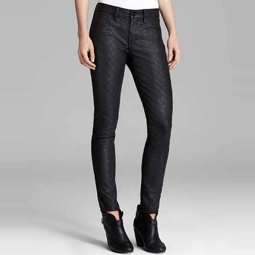 Best Faux Leather Leggings - D-ID Jeans - New York Quilted Faux Leather Skinny