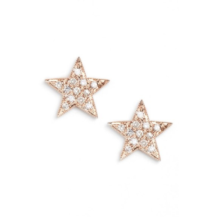 Best Diamond Jewelry Under $500 - Dana Rebecca Designs Julianne Himiko Diamond Star Stud Earrings
