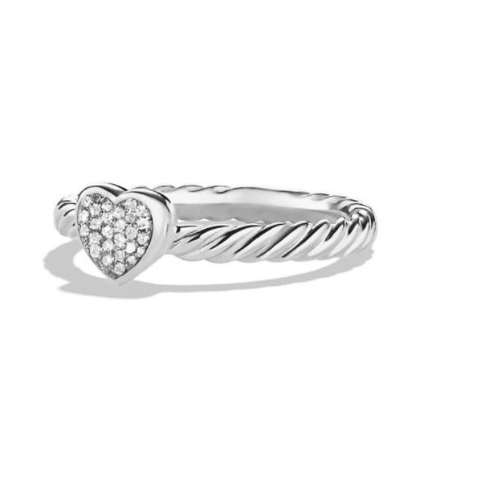 Best Diamond Jewelry Under $500 - David Yurman Cable Collectibles Heart Ring with Diamonds