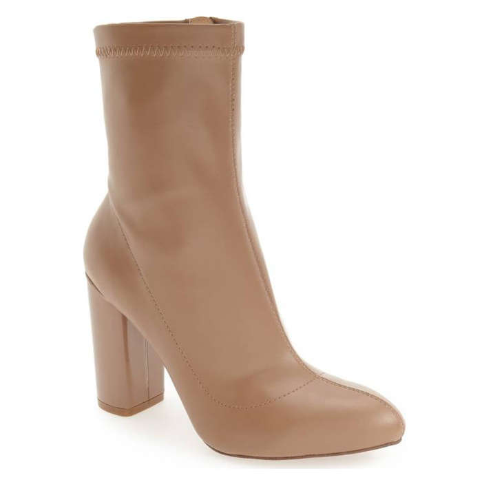 Best Vegan Leather Booties - Daya by Zendaya 'Kathryn' Block Heel Zip Bootie