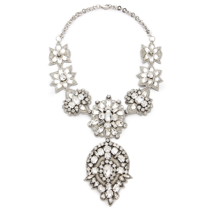 Best Crystal Statement Necklaces - Deepa Gurnani Crystal Applique Statement Necklace