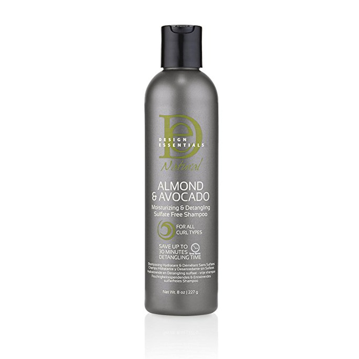 Best Drugstore Moisturizing Shampoos - Design Essentials Almond & Avocado Moisturizing and Super Detangling Sulfate-Free Shampoo