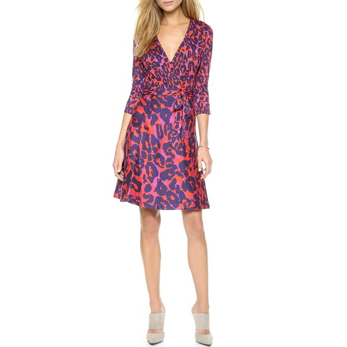 Best Animal Print Dresses - Diane von Furstenberg 'Amelia' Wrap Dress