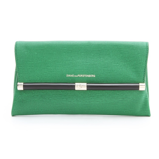 Best Envelope Clutches - Diane von Furstenberg Lizard Clutch