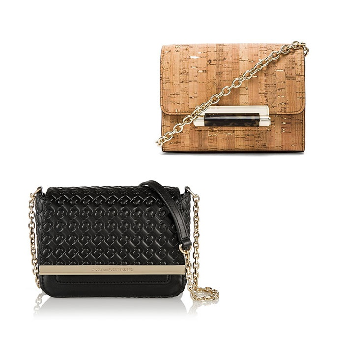 Best Mini Cross Body Bags Under $250 - Diane Von Furstenberg Micro Mini Metallic Cork Crossbody and Voyage Micro Mini Leather Shoulder Bag