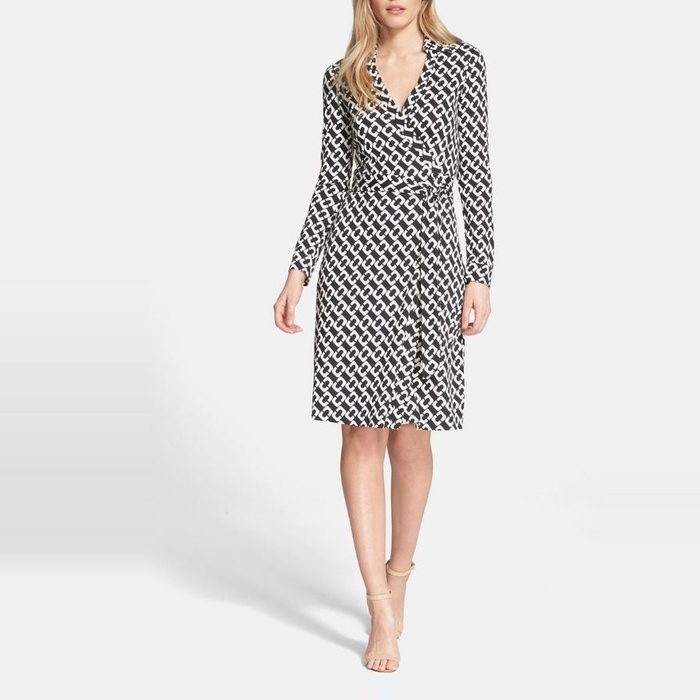 Best Wear to Work Dresses - Diane von Furstenberg New Jeanne Two Print Silk Wrap Dress