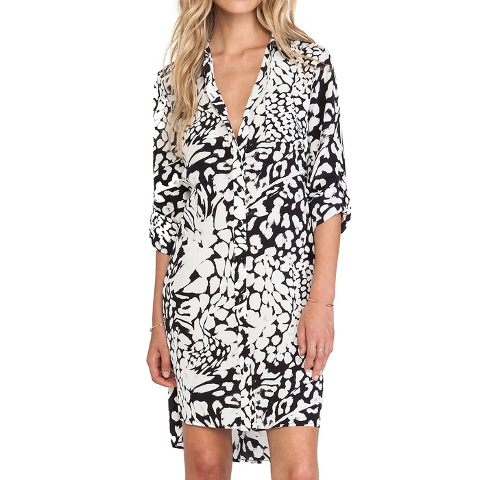 Best Animal Print Dresses - Diane von Furstenberg Prita Printed Silk Shirtdress