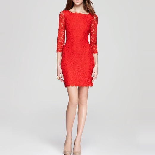 Best Lace Dresses - Diane von Furstenberg Zarita Lace Dress in Red