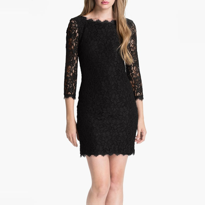 Best Little Black Dresses - Diane von Furstenberg Zarita Lace Sheath Dress