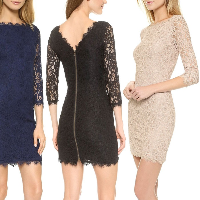 Best Lace Dresses - Diane von Furstenberg Zarita Lace Sheath Dress