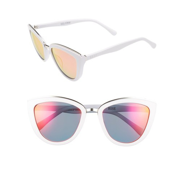 Best Spring Vacation Essentials - DIFF Rose 56mm Cat Eye Sunglasses