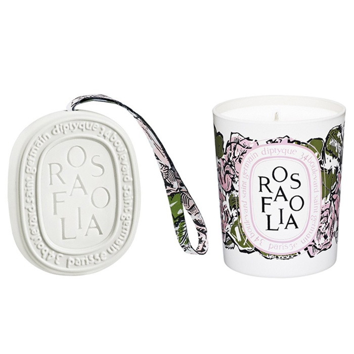 Best Indulge & inspire with the best beauty gifts - diptyque 'Rosafolia' Candle and Scented Oval (Limited Edition)