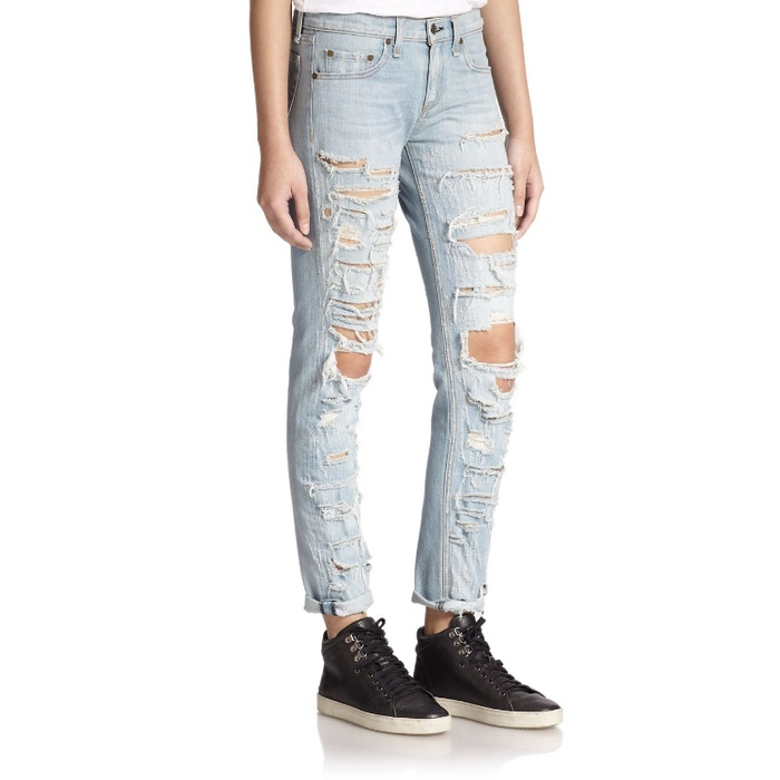 Rag & Bone/Jean Distressed Boyfriend Jeans | Rank & Style