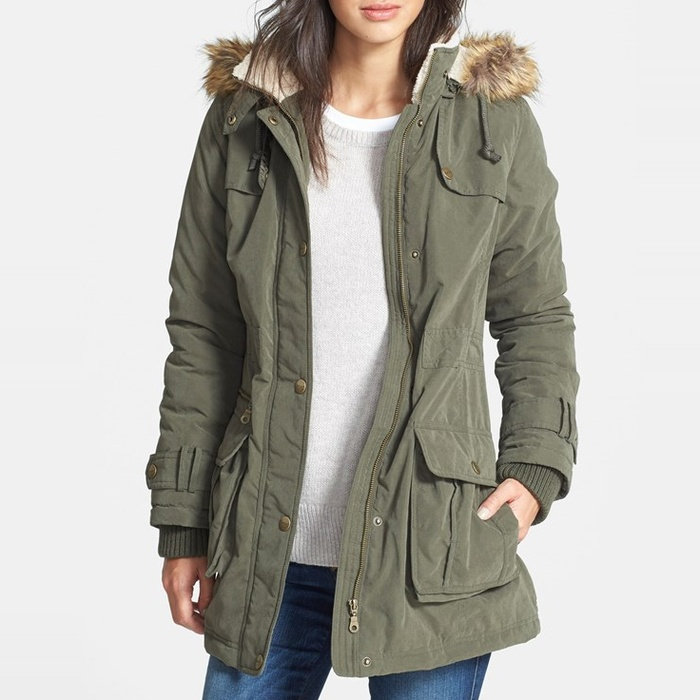 Best Parkas Under $500 - DKNY Faux Fur Trim Anorak