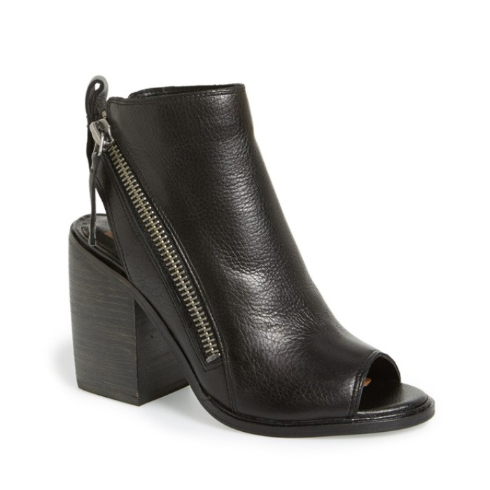 Best Black Ankle Boots Under $200 - Dolce Vita Open Toe Stacked Heel Booties