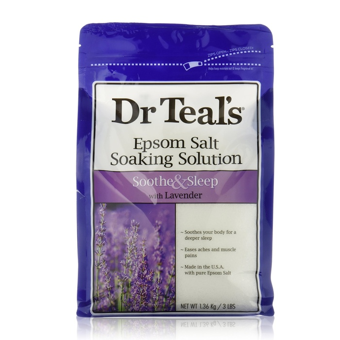 Best Bath Soaking Salts - Dr. Teals Lavender Epsom Salt