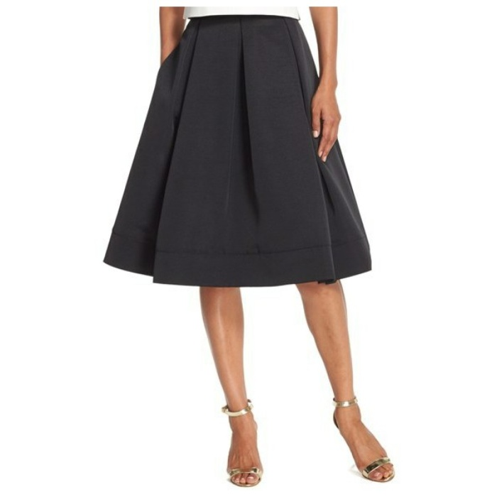 Best Midi Skirts Under $200 - Eliza J Pleated Faille Midi Skirt