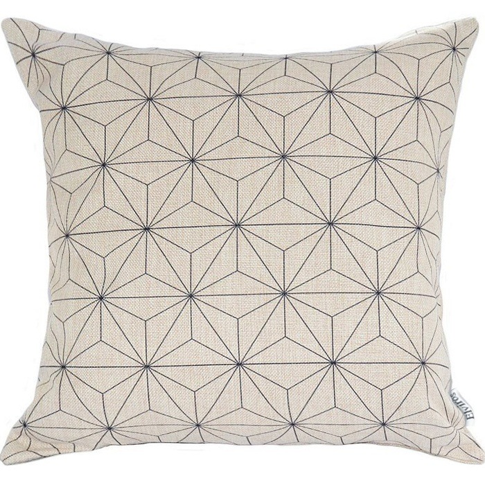 Best Throw Pillows Under $50 - Elviros Linen Cotton Blend Decorative Scandinavian Modern Geometric Throw Pillow