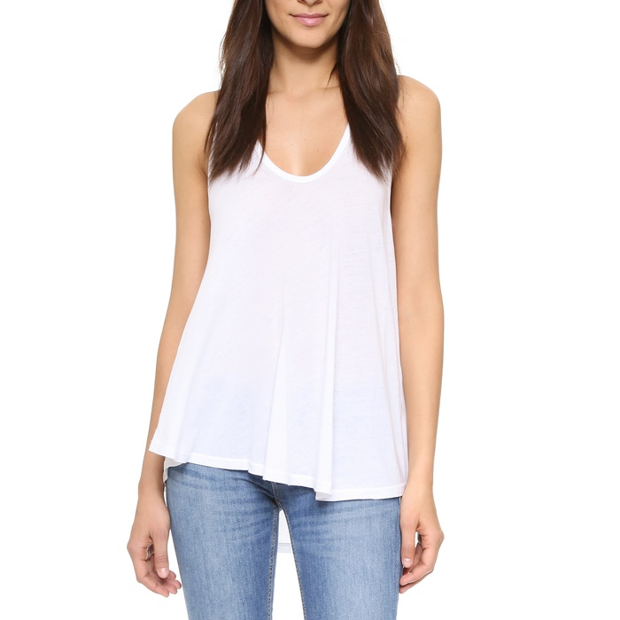 Best White Tank Tops - Enza Costa Swing Tank