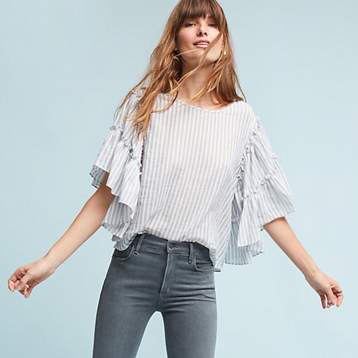 Best Summer Tops With Sleeves - Eri + Ali Elisha Ruffled Pullover