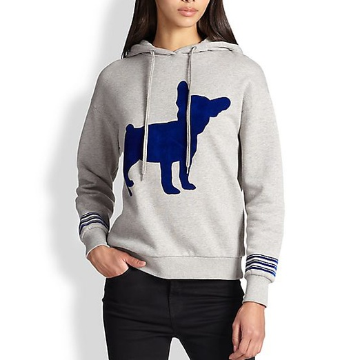 Best Stylish Hoodies - Etre Cecile French Bulldog Printed Hooded Cotton Sweatshirt