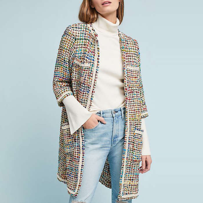 Best Rainbow Fashion Pieces - ett:twa Tweed Berwyn Jacket