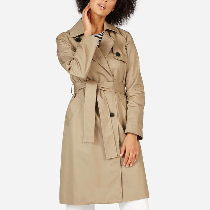 Best Trench Coats - Everlane The Drape Trench Coat