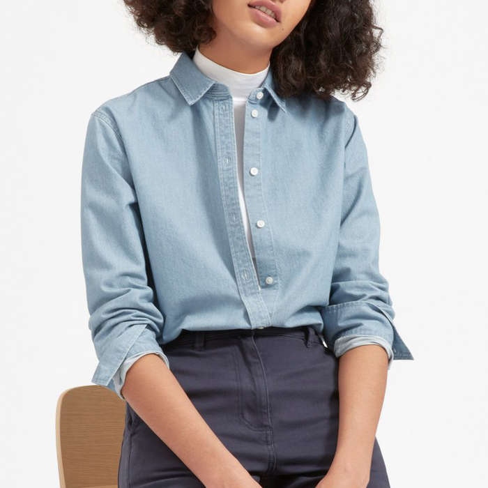 7be0a19b 10 Best Denim And Chambray Shirts For Women | Rank & Style