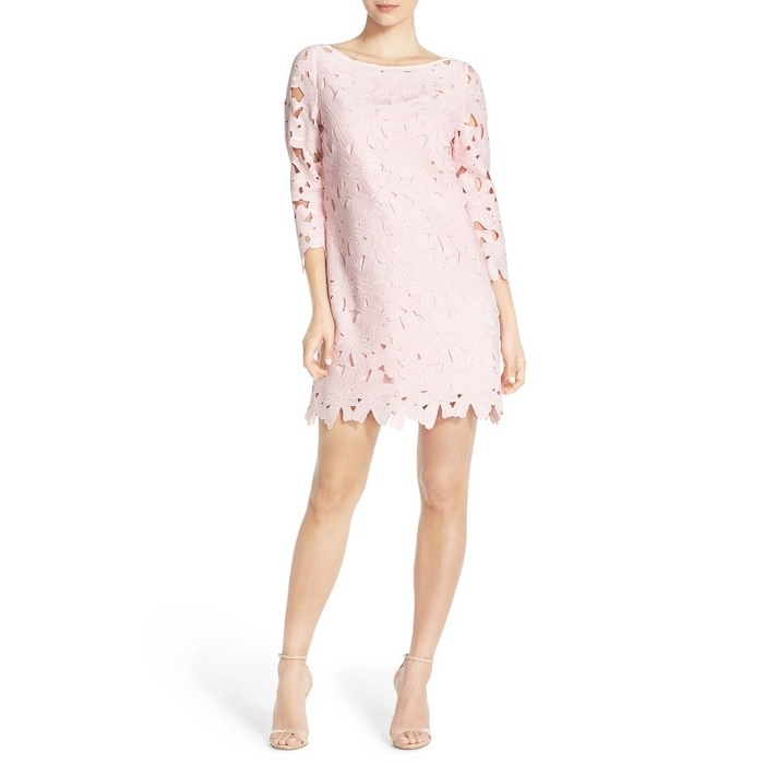 Best Summer Wedding Guest Dresses Under $150 - Felicity & Coco Floral Lace Shift Dress