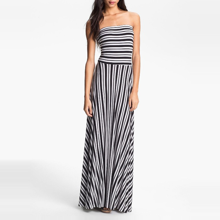 Best Maxi Dresses - Felicity & Coco Stripe Strapless Maxi Dress