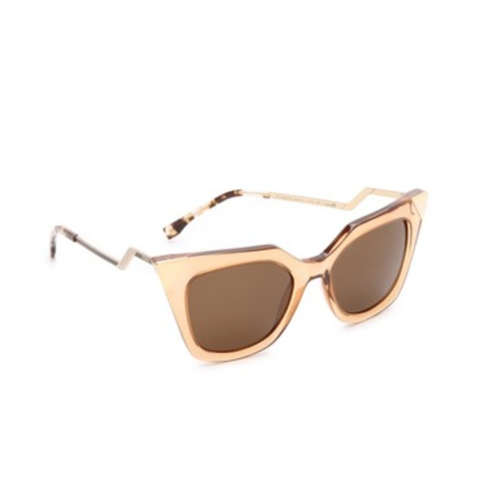 Best Sunglasses For A Round Face - Fendi Iridia Corner Accent Sunglasses