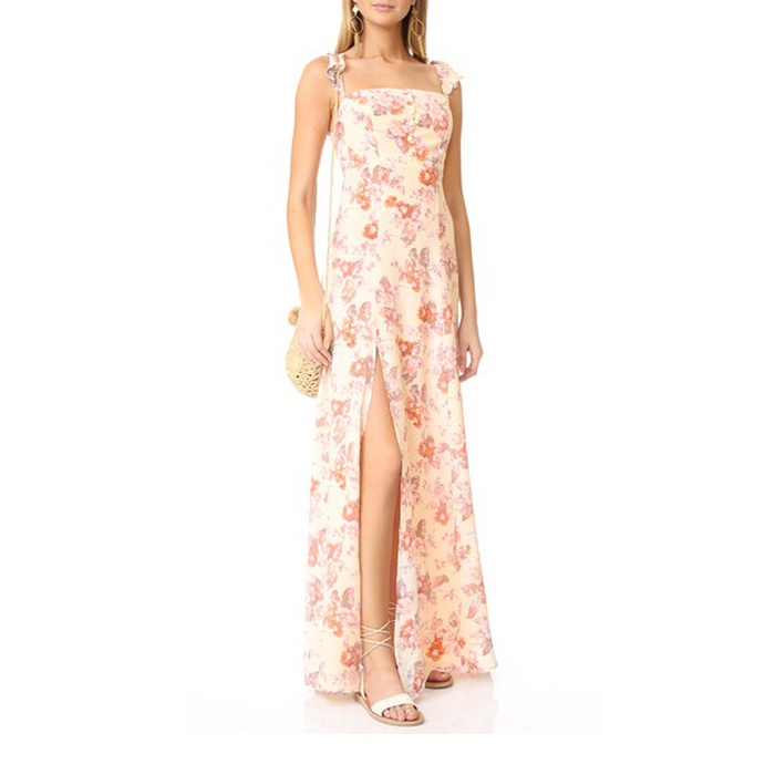 Best Floral Maxi Dresses - Flynn Skye Bardot Maxi Dress