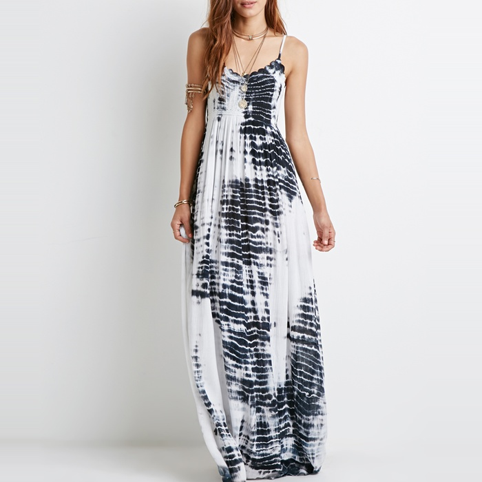 Best The Ten Best in Tie-Dye Fashion - Forever 21 Tie-Dye Crochet Maxi Dress