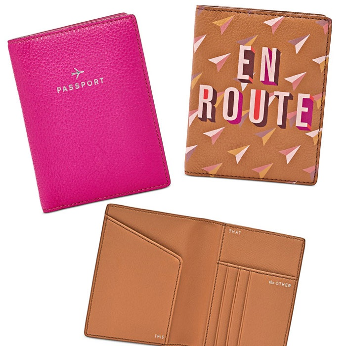 Best For the Frequent (Fashionable) Flier - Fossil Leather Passport Cases