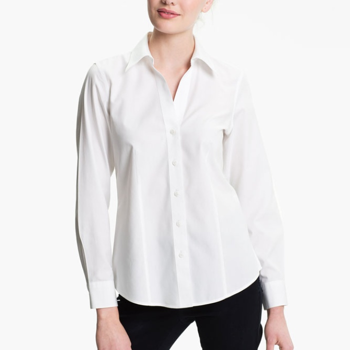Best White Button Down Shirts - Foxcroft Fitted Shirt