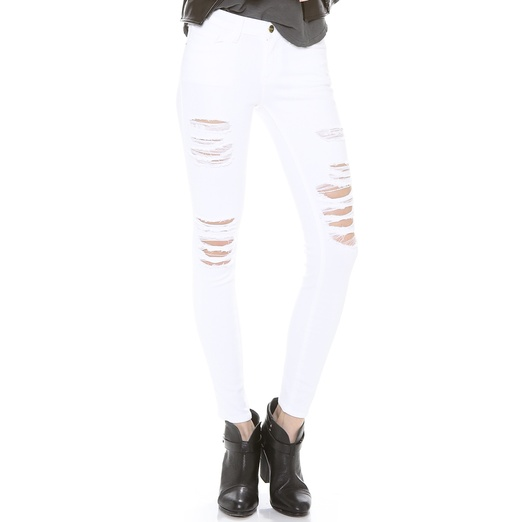 Best Distressed Jeans For Spring - FRAME Denim Le Color Rip Skinny Jeans