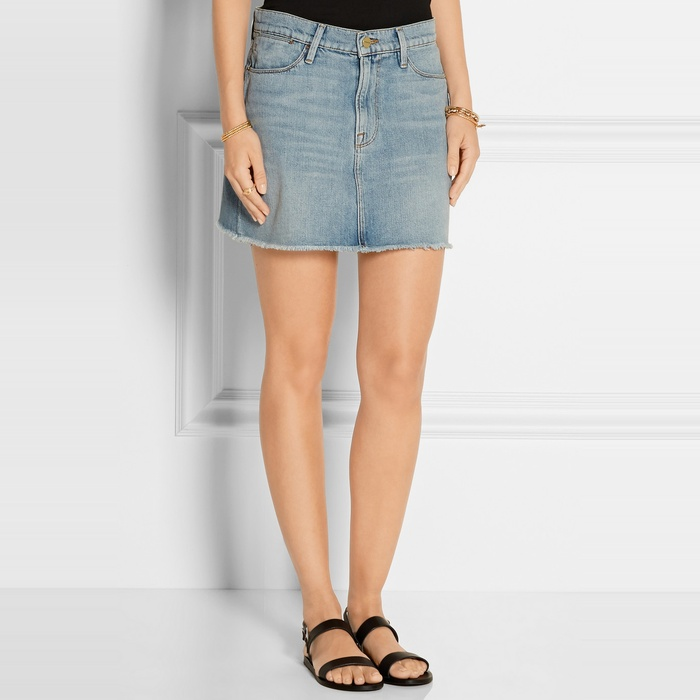 FRAME Denim Le High Denim Mini Skirt | Rank & Style