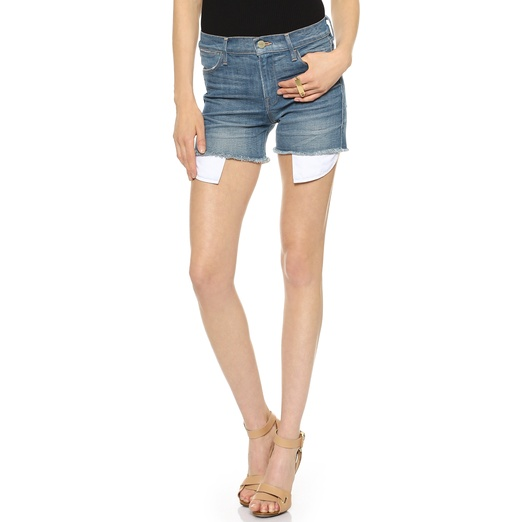 Best High Waisted Denim Shorts - FRAME Denim Le High Rise Shorts