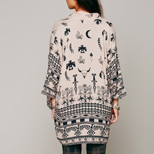 Best Ten Tribal Themed Bests - Free People Boho Tribal Kimono