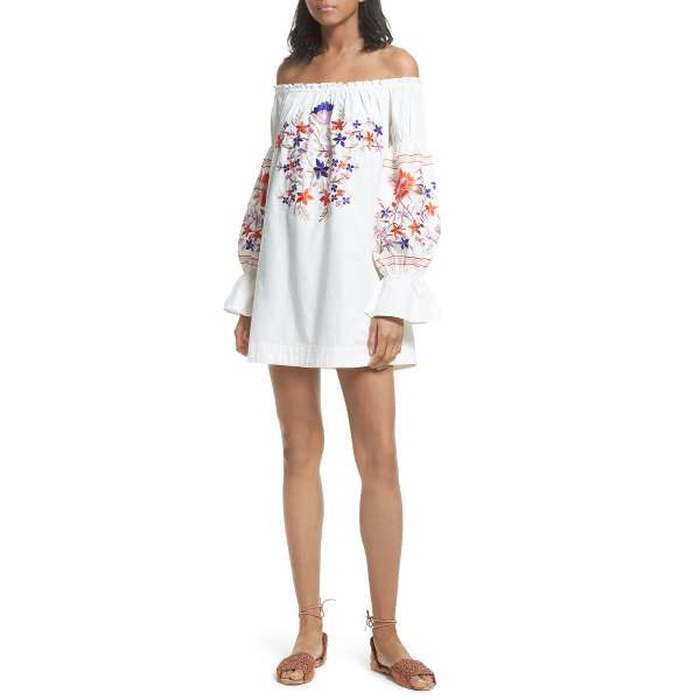 Best Casual Off The Shoulder Dresses - Free People Fleur Du Jour Mini Dress