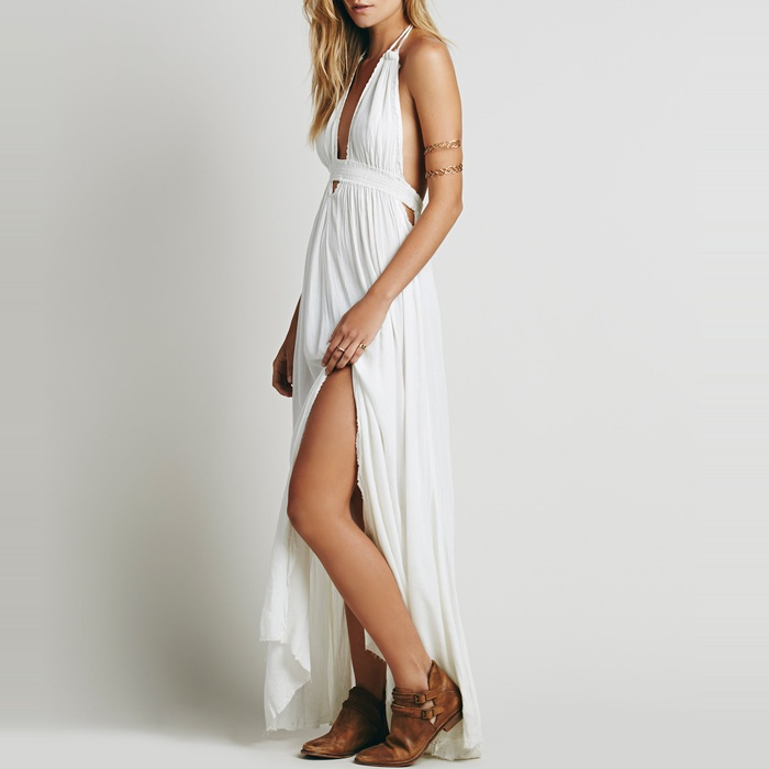 Best Cut Out Dresses Under $300 - Free People Look Into the Sun Maxi