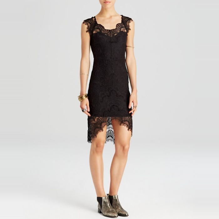 Best Black Cocktail Dresses for Fall - Free People Peekaboo Lace Slip