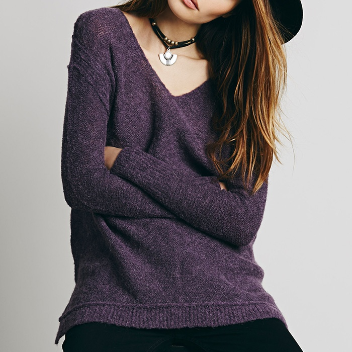 Best Cozy Sweaters under $100 - Free People Sudan V-Neck