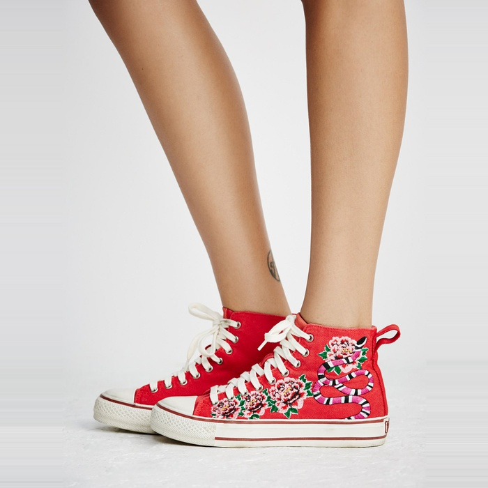 Best Embroidered Shoes - Ash Vanina Hi Top Sneaker
