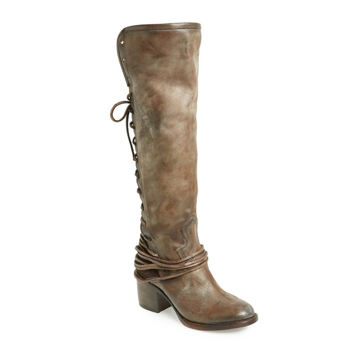 Best Boots made for walking and gifting - Freebird by Steven Coal Tall Leather Boot